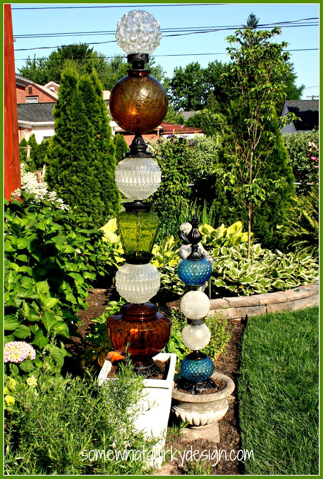 Building Glass Towers Garden Art Projects Garden Art Diy