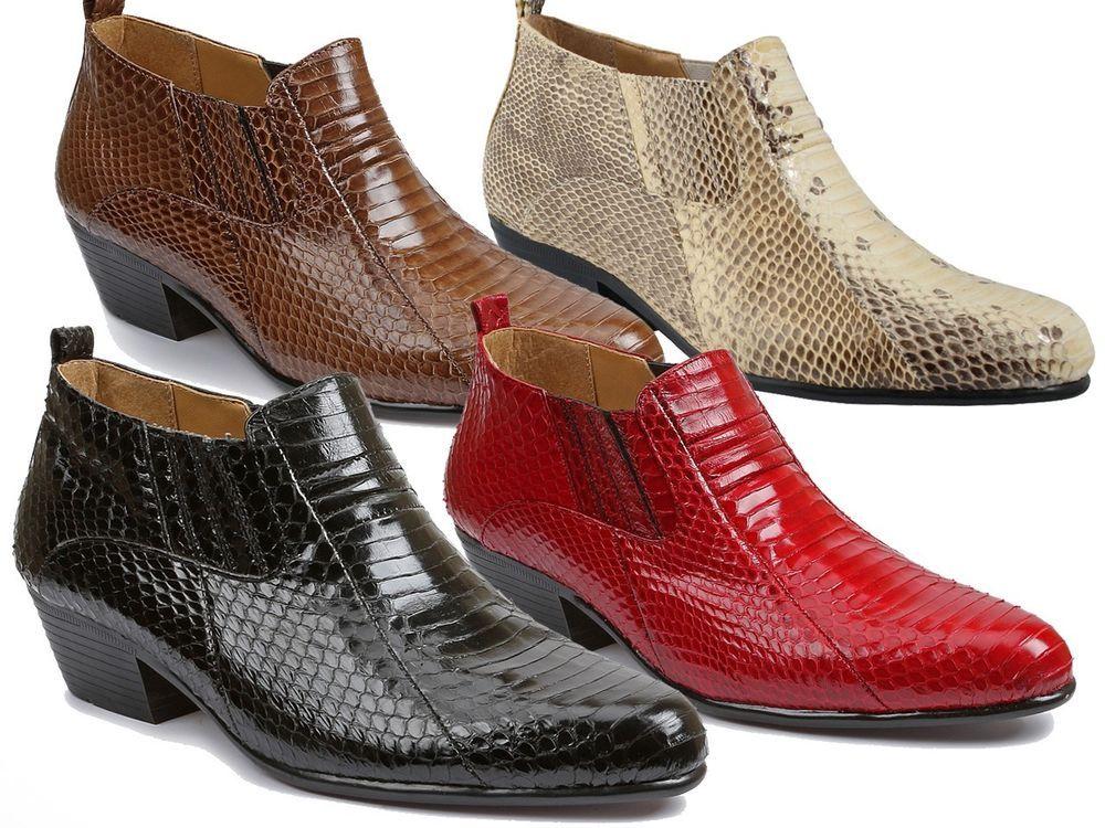 Giorgio Brutini Jarrett Exotic Dress Men Snake Skin Ankle Boots 15064 sz  6-15