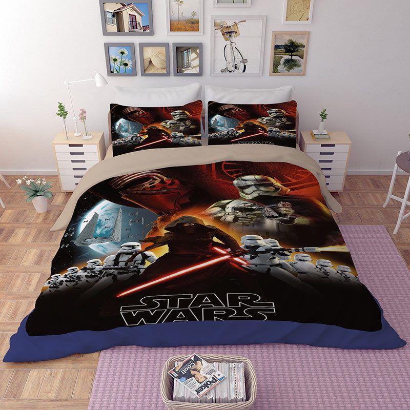 3d Star Wars Comforter Duvet Cover Quilt Cover Pillowcase Bedding