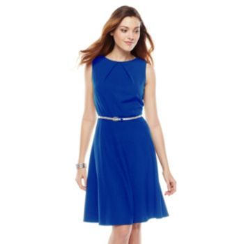 Bridesmaids dress idea:AB Studio Pleated A-Line Dress (Kohls ...