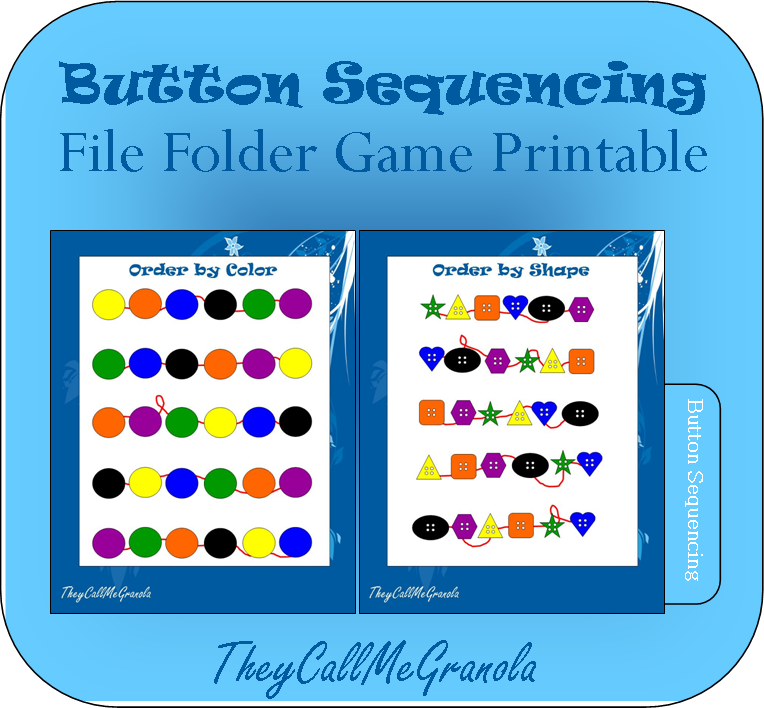 Sequencing File Folder Games Button Sequencing Number Sequencing Folder Games File Folder Games File Folder Activities