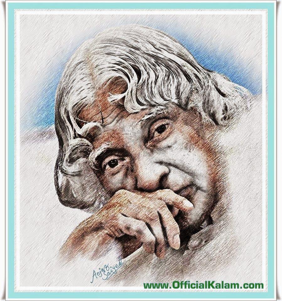 Dr. A.P.J. Abdul Kalam Portrait Made by Aejaz Saiyed