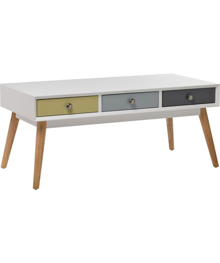 Buy Retro Style 6 Drawer Coffee Table - Multicoloured at Argos.co.uk ...