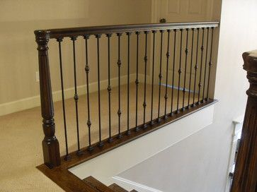Attractive Stairs In Detail Traditional Staircase   Walnut Newal Posts And Oil Rubbed  Bronze Balusters