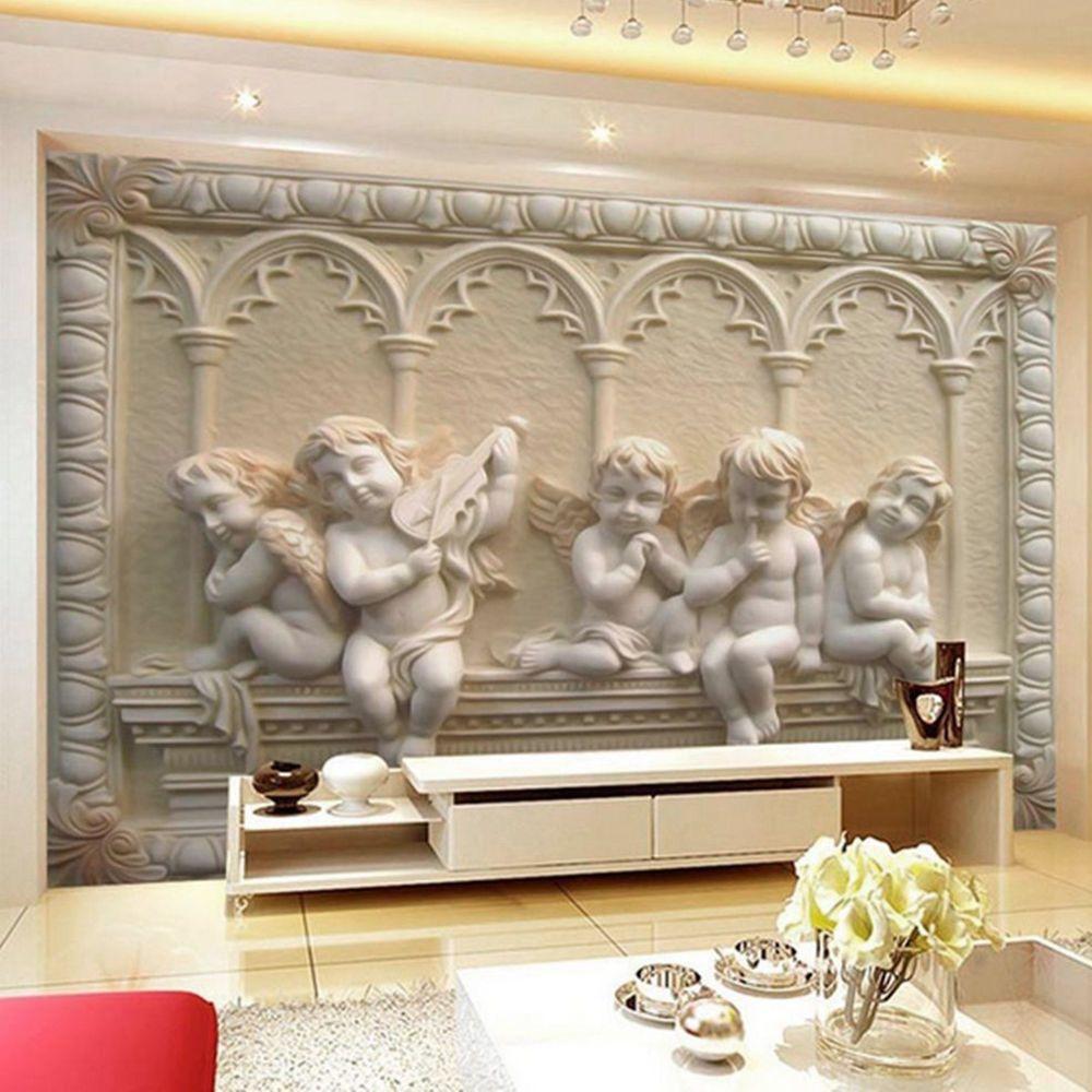 3d modern luxury embossed angel wallpaper mural roll bedroom wall 3d modern luxury embossed angel wallpaper mural roll bedroom wall tv background amipublicfo Gallery
