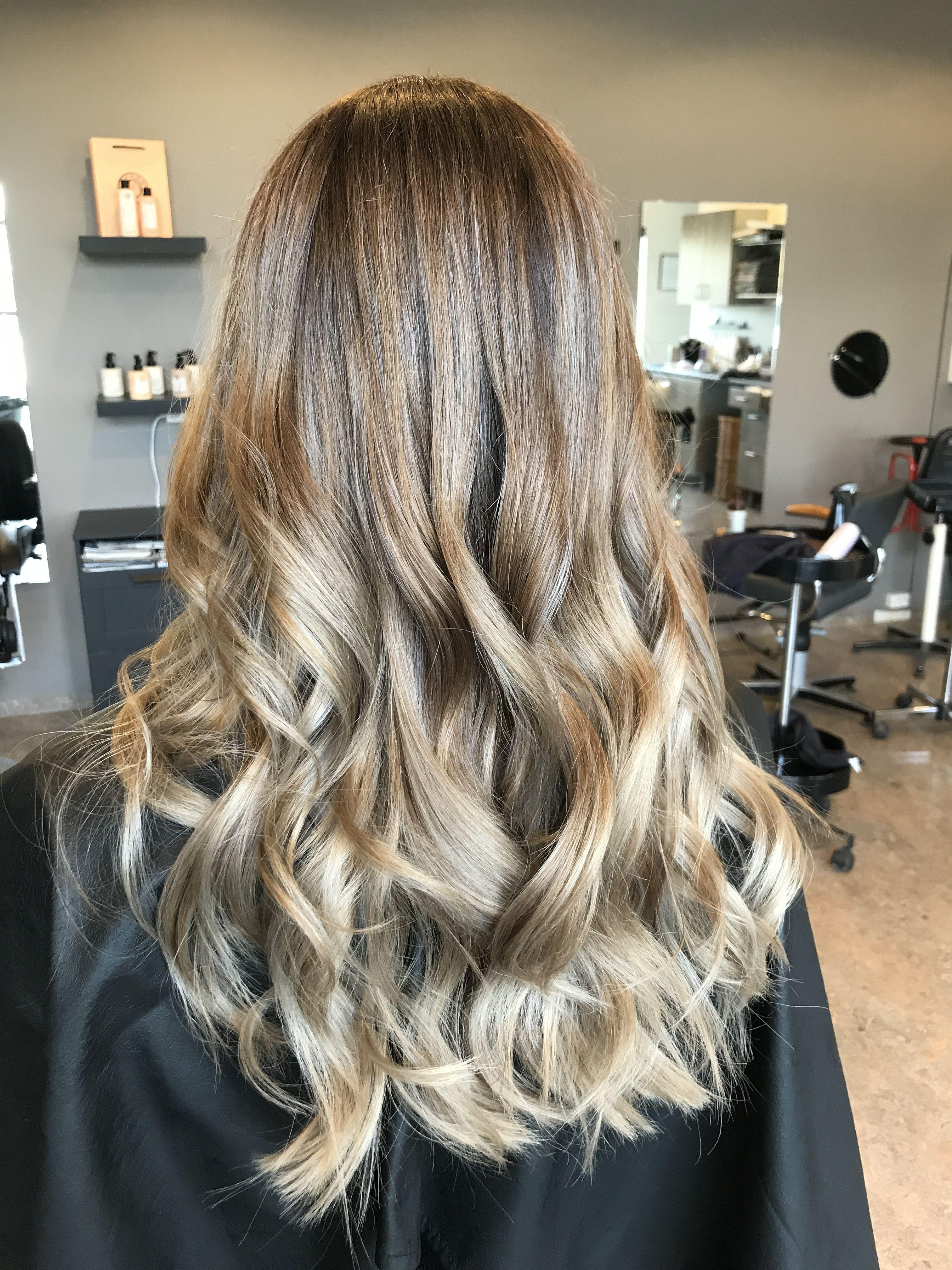 Natural Balayage Color Darker Roots And Lighter Ends Really Natural Blonde Balayage Color Balayage Hair Grey Balayage