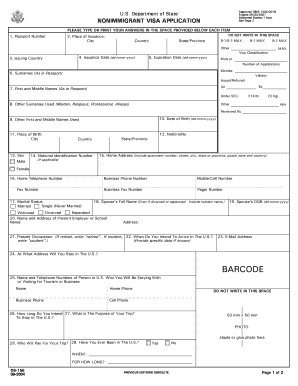 Fill Sample Of Ds 160 Form Download Blank Or Editable Online Sign Fax And Printable From Pc Ipad Tablet Or Mobi Blank Form Application Form Letter Example