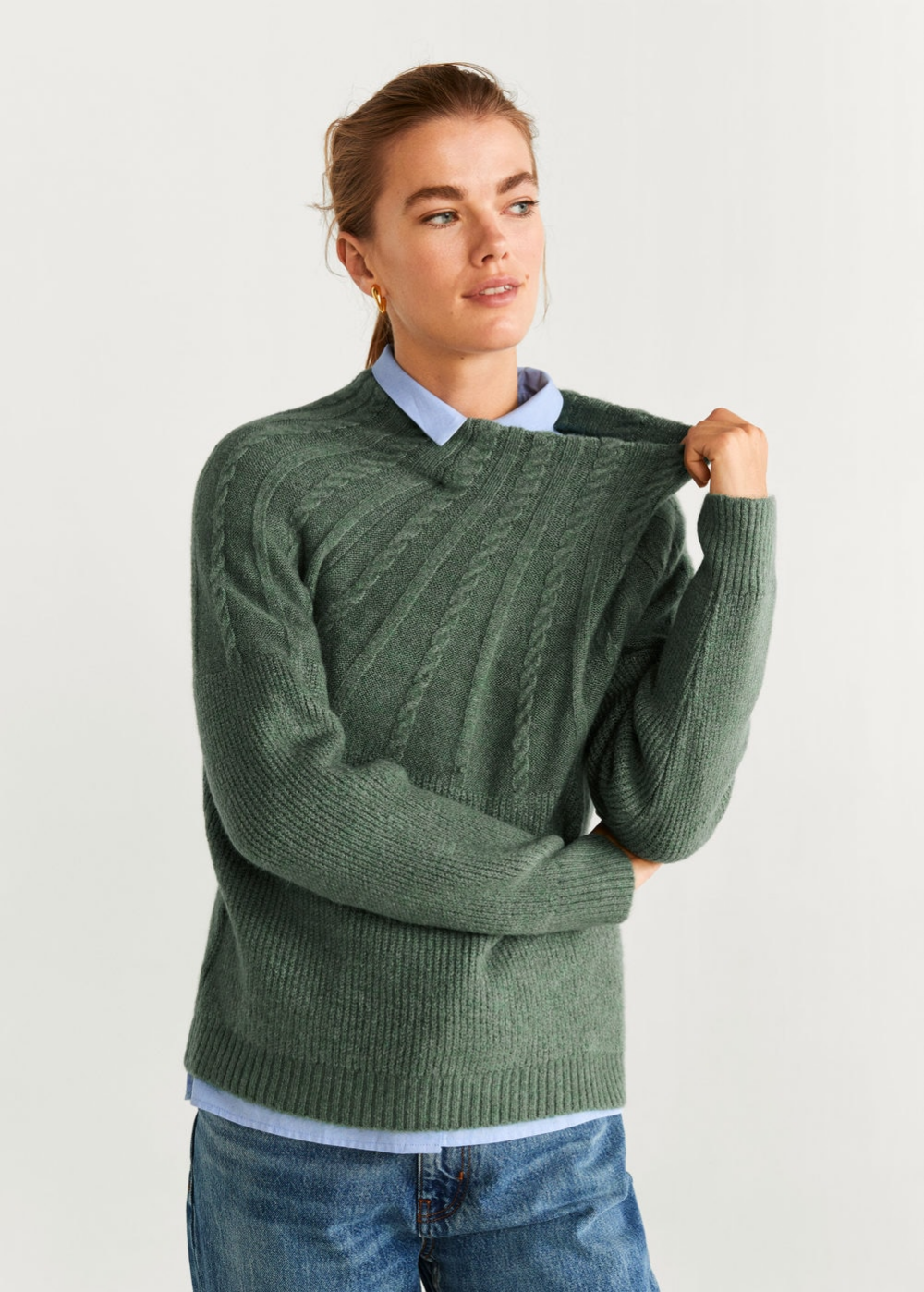 closer at hot sales first rate Contrasting knit sweater - Women   Sweaters for women, Pullover ...