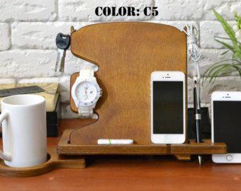 Great Anniversary Gift For Men Wood Stand Husband Ideas Mens Desk