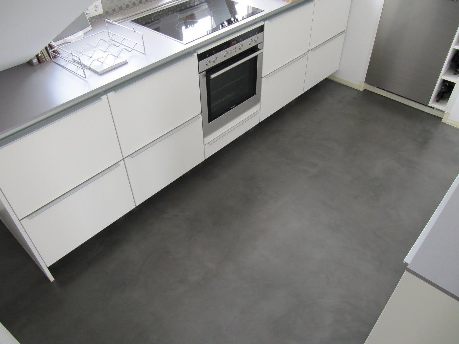 Beton Cire Bodenbeschichtung  Bodenbeschichtung, Betonboden küche