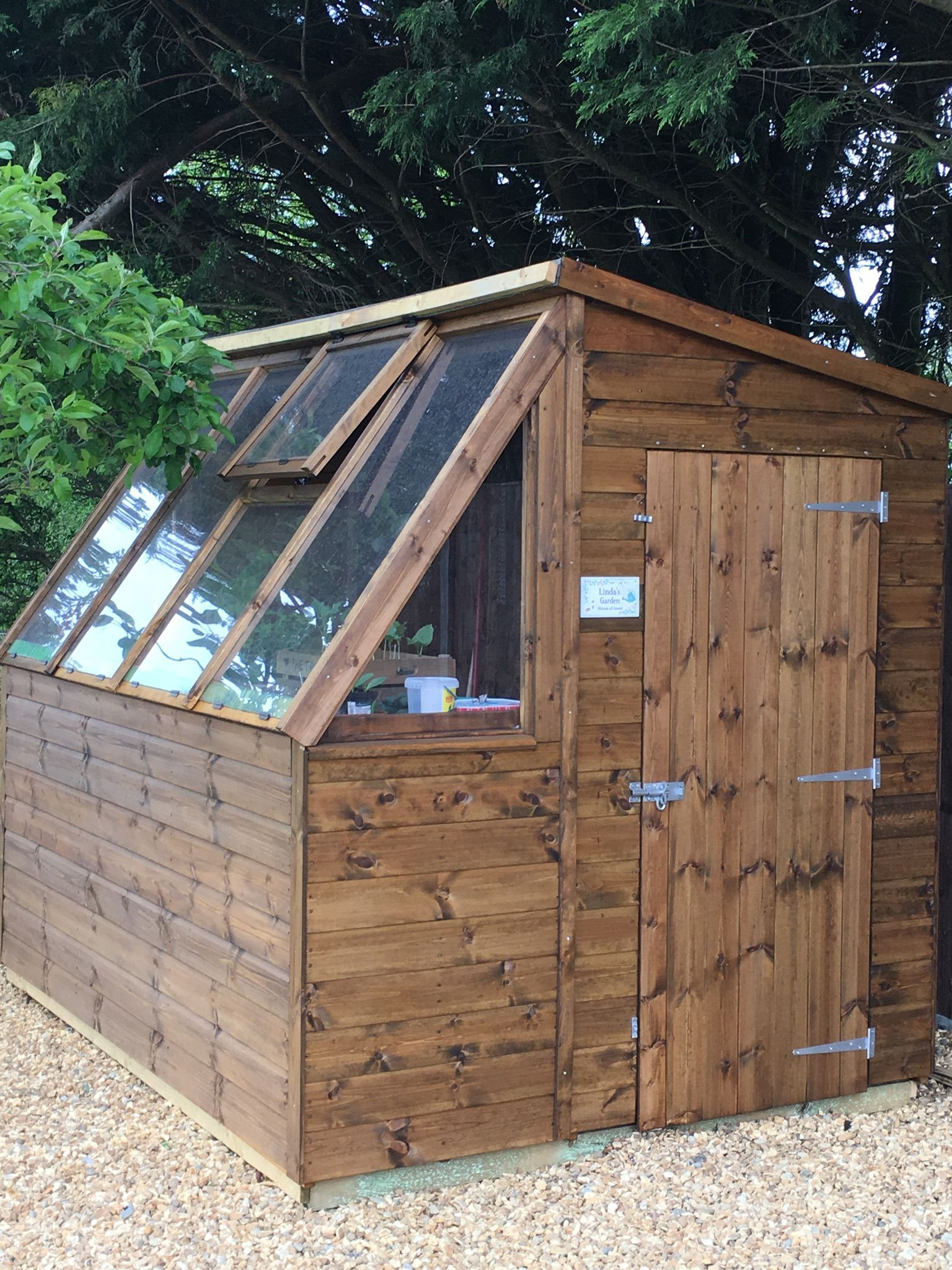 8 x 6 Waltons Tongue and Groove Potting Shed Wooden Greenhouse ...