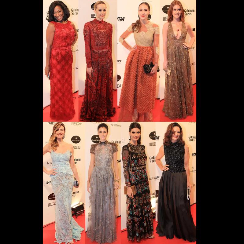 Semana passada tivemos o baile de gala #BrazilFoundation, este evento contou com a presença de várias celebridades, nós separamos alguns dos looks que apareceram por lá, confira:  #Look #Gala #Fashion #AndressaCastro #ModaFeminina
