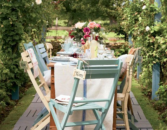 Garden Furniture Shabby Chic i love these colours, i must get round to painting our garden