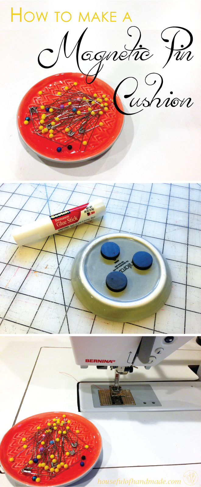How to Make a Magnetic Pin Cushion | Nähen