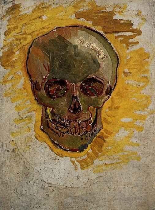 Friends of Vincent (@VanGoghADay) | Twitter  Skull Winter, 1887/88 Oil on canvas on triplex board Amsterdam, Van Gogh Museum