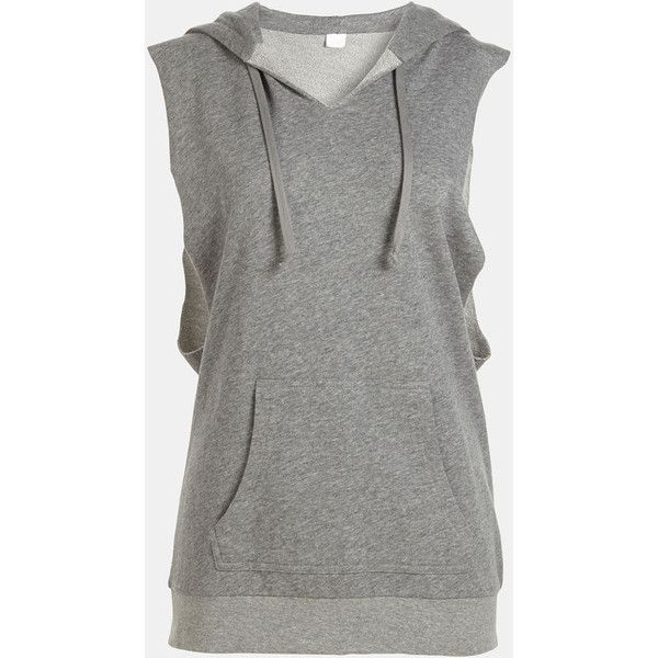 3ad63138a170 Leith Cut Sleeve Hoodie ( 22) ❤ liked on Polyvore featuring tops ...