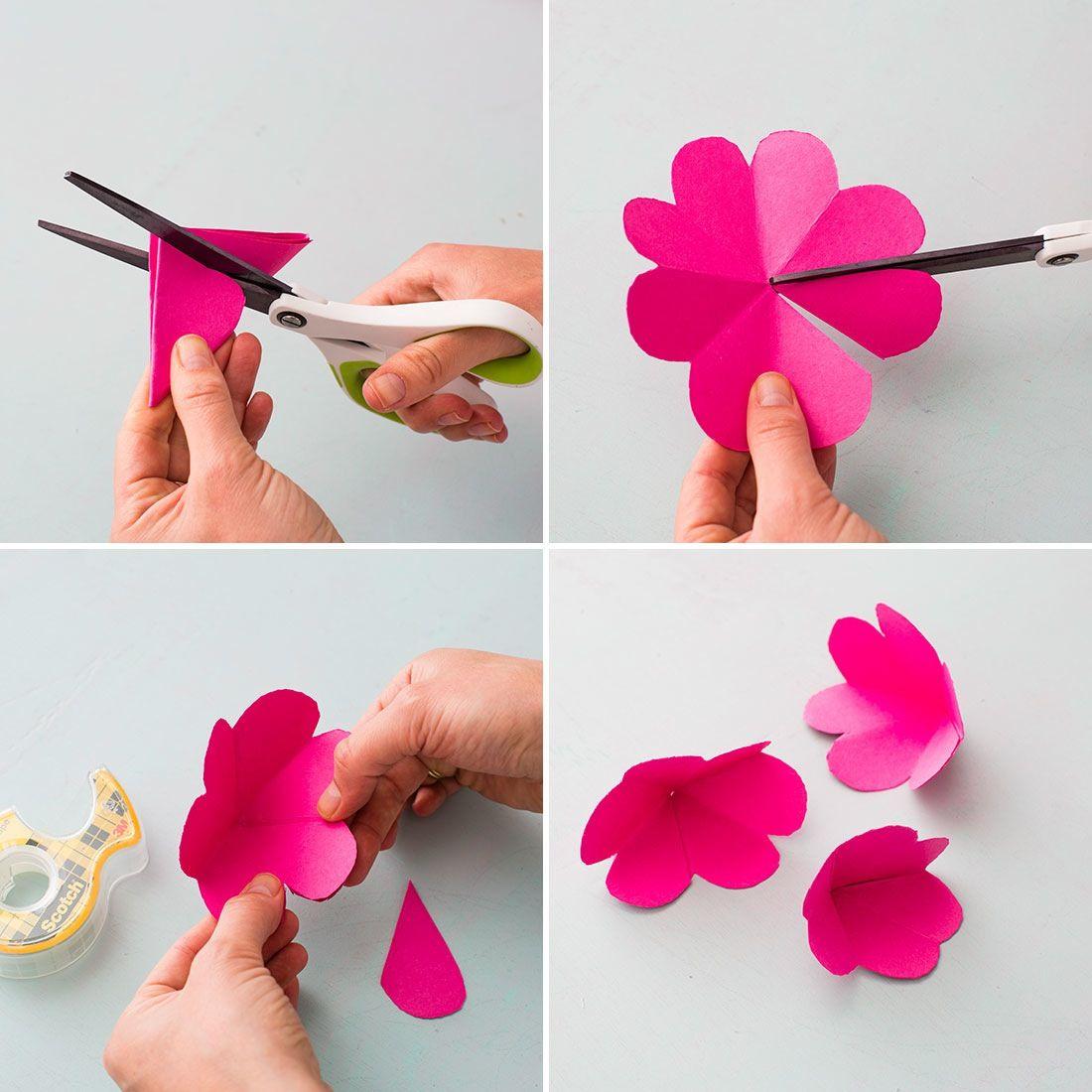 Поздравление, сделать цветочки на открытку из бумаги