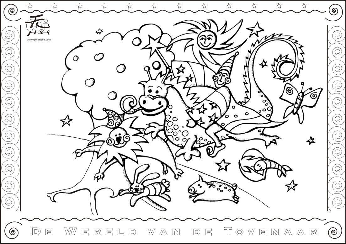De Wereld Van De Tovenaar Ontdek Een Wonderlijke Weg Naar Je Eigen Hart Kleurplaten Creativiteit Tovenaar