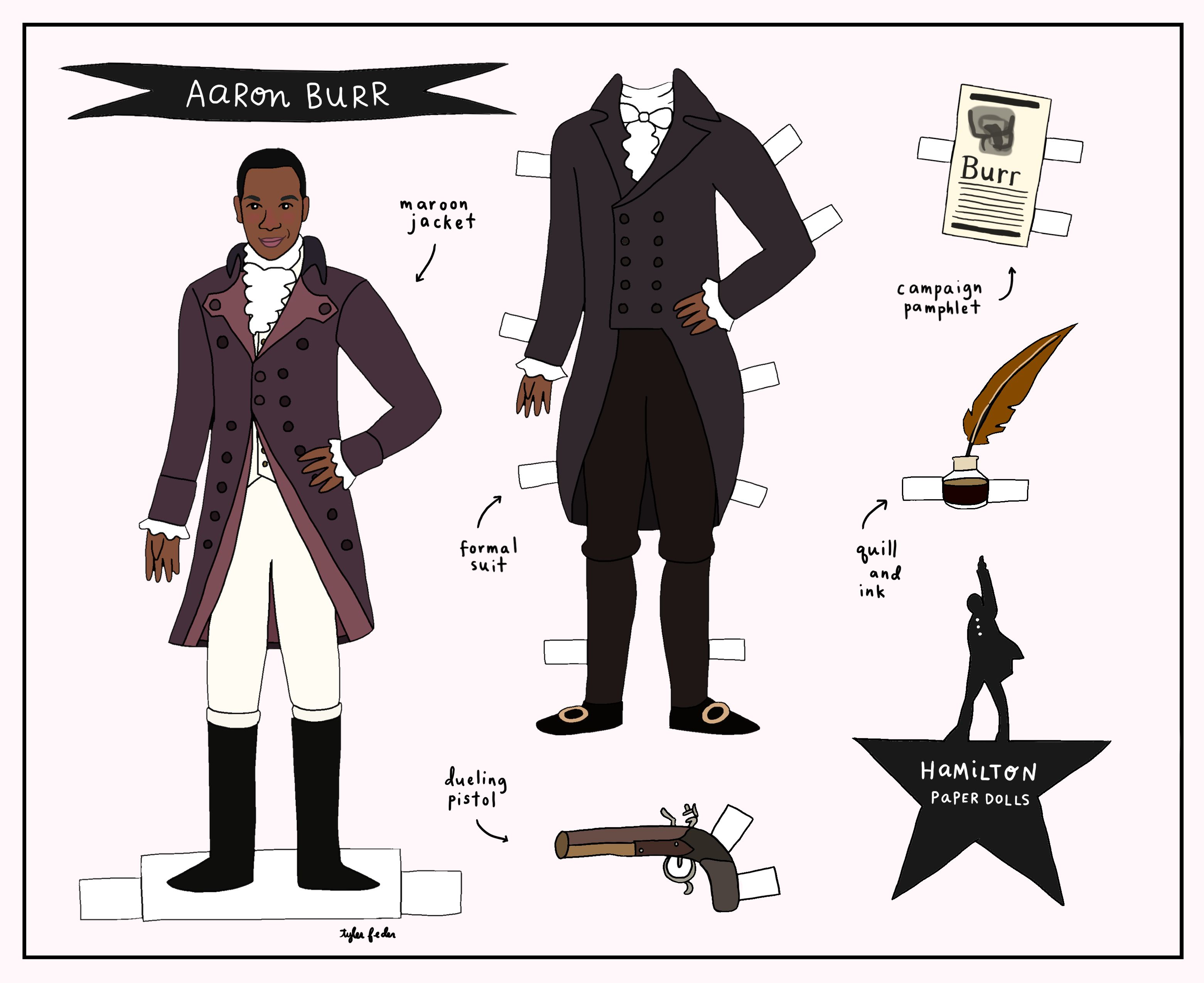 Hamilton Paper Dolls For The Hit Broadway Musical Paper Dolls Hamilton Costume Hamilton