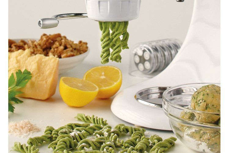 KitchenAid Stand Mixer recipe - Spinach fusilli with a buttered walnut and herb sauce