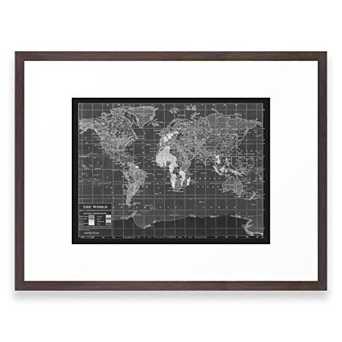 Society6 black and white vintage world map framed print conservation society6 black and white vintage world map framed print conservation walnut medium gallery gumiabroncs Choice Image