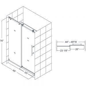 Standard Height Glass Shower Doors Frameless Sliding Shower Doors Shower Sliding Glass Door Sliding Shower Door