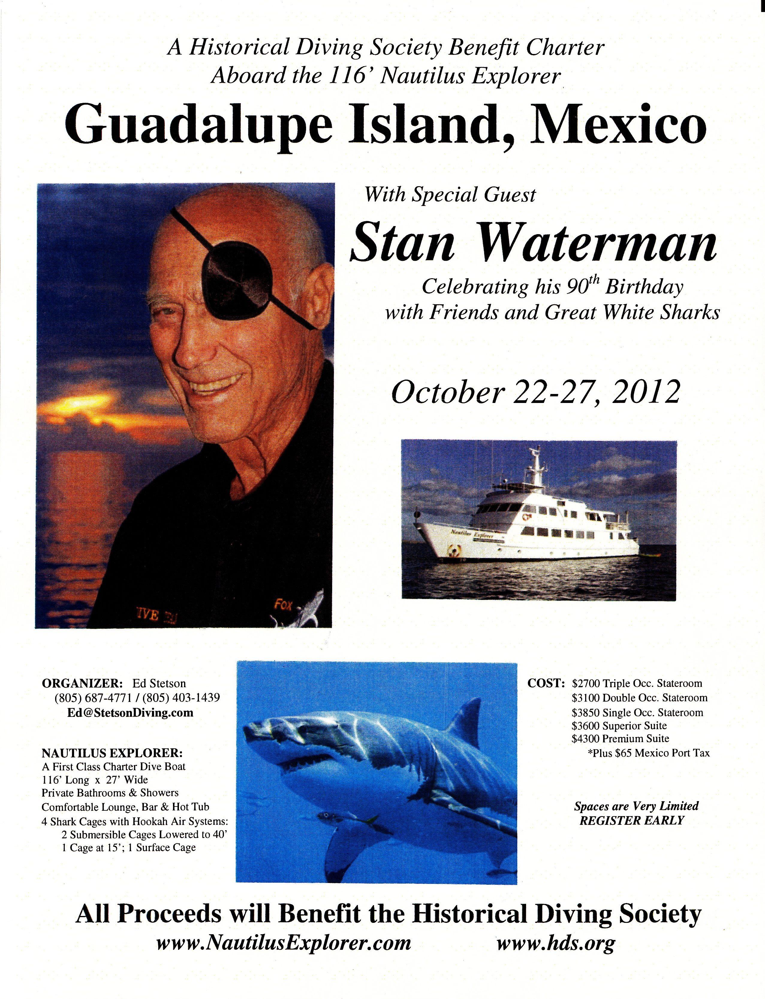 Stan Waterman Legendary Underwater Film Maker Producer Shark Conservationist Sup Radio Show Waterman Shark Underwater