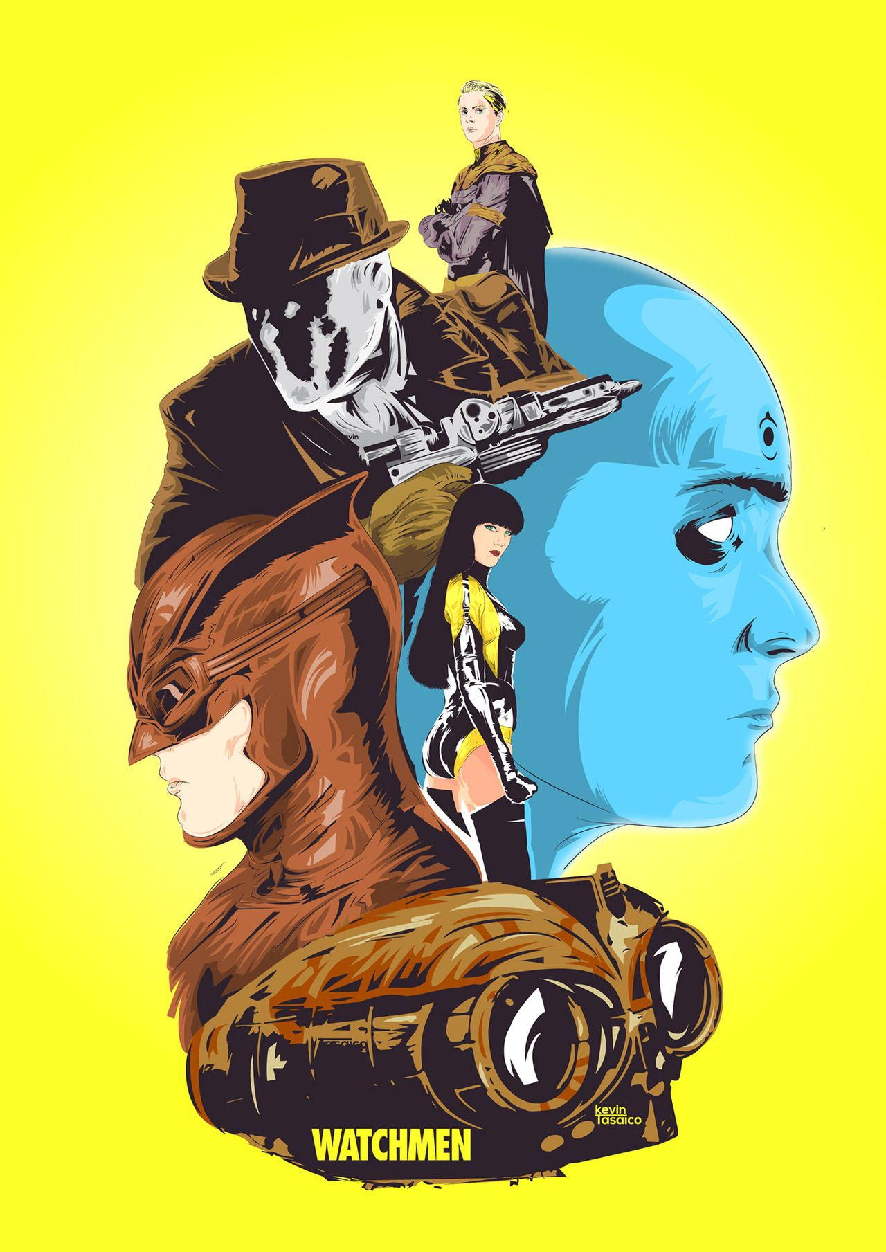 Herochan Watchmen Art By Kevin Tasaico Dc Comics Wallpaper Watchmen Comic Art