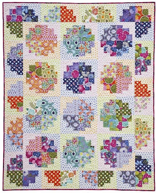 Laura Nownes pattern w/ fabrics by Kate Spain (Moda) and ... : how wide is quilting fabric - Adamdwight.com