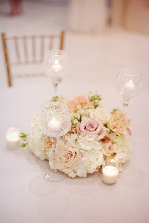 blush beige ivory floral arrangement wedding by Savage Garden out of Atlanta, GA