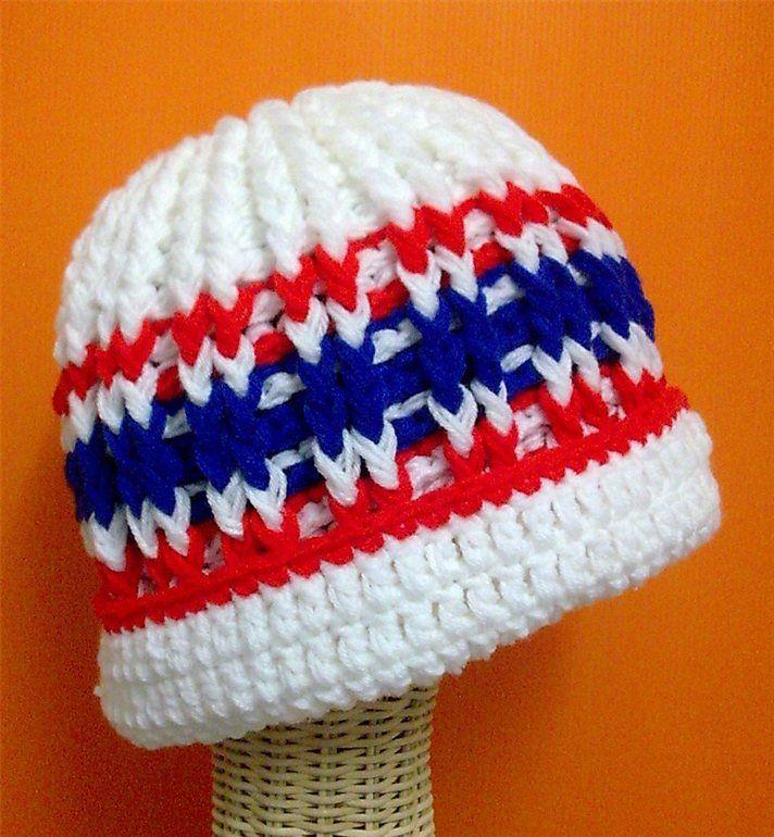 BeanieThailand Flag Hat https://www.facebook.com/Shanny.Cafe.Crochet