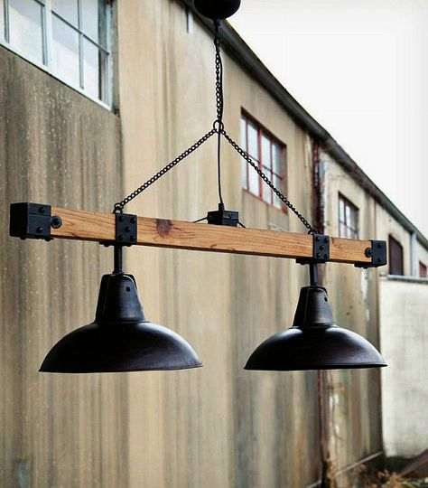 industrial style warehouse light beam so very cool. Black Bedroom Furniture Sets. Home Design Ideas