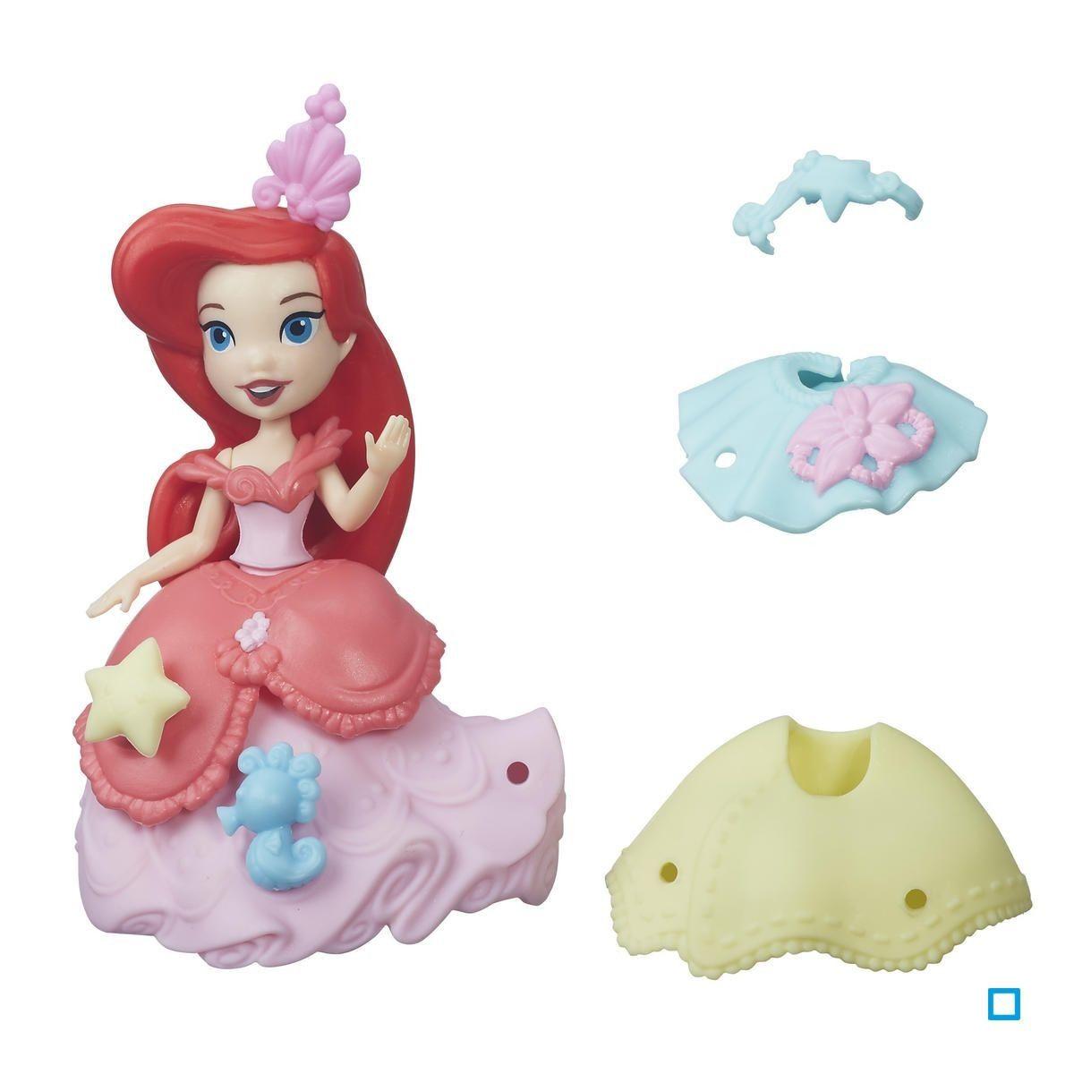 Disney Little Kingdom Frozen Roule /à Toute Vitesse Elsa Hasbro Mini Poup/ée La Reine des Neiges