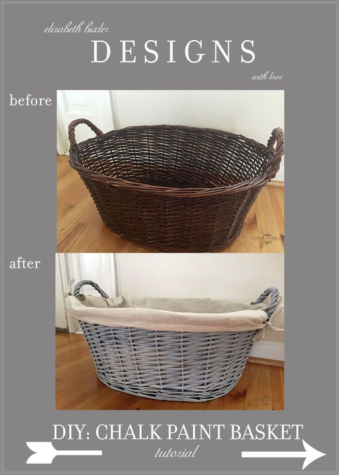 DIY How to Chalk Paint a Basket