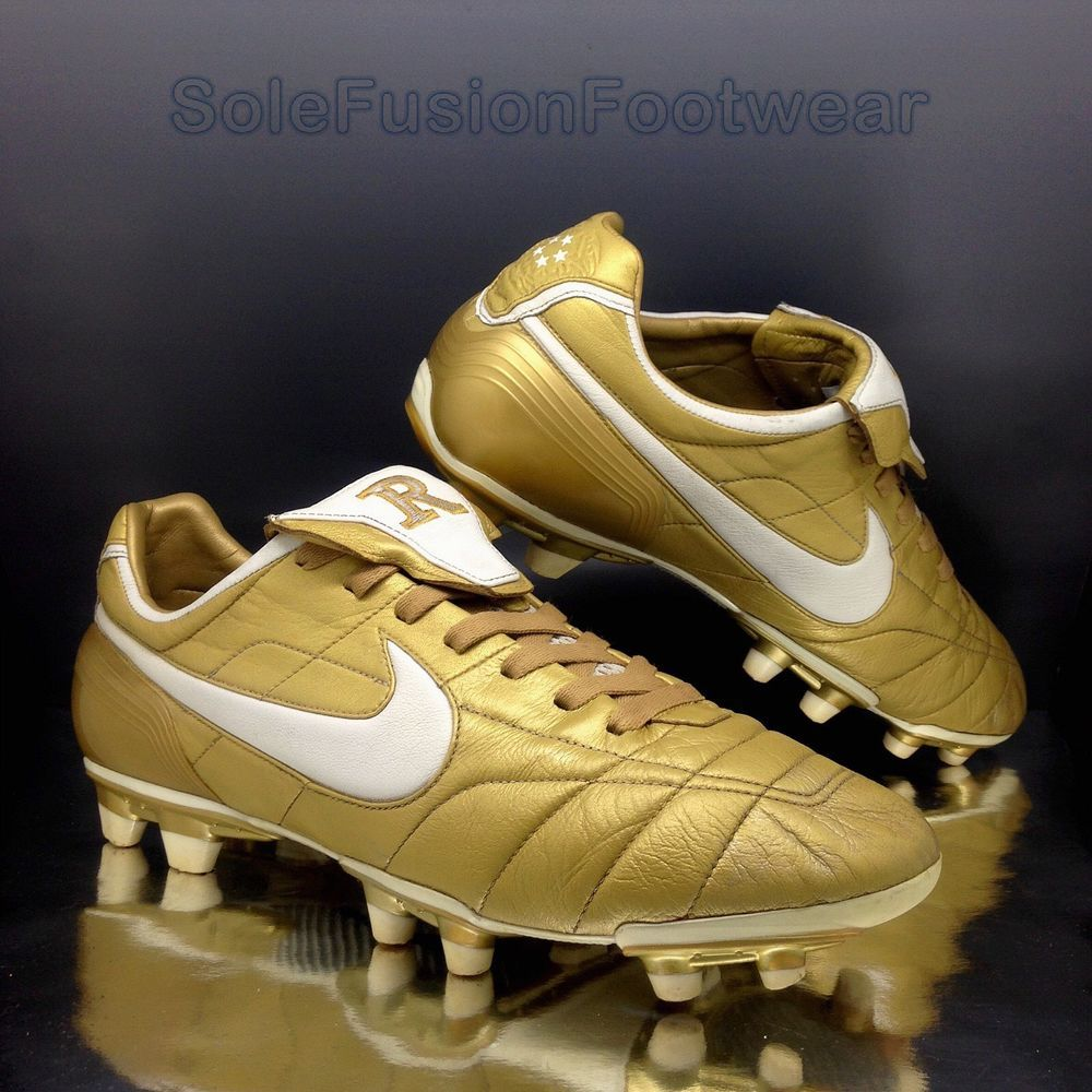 dad773342c9 Nike mens Tiempo Legend R10 Football Boots Gold sz 12 Ronaldinho Cleats 13  47.5