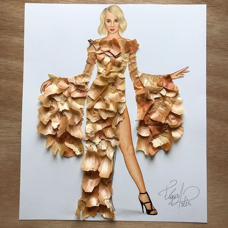 e14ec1f28484 Onion Dress by Edgar Artis  dress made of onion skin