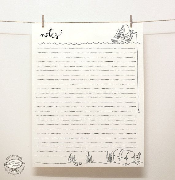 DOODLE Note Paper Sheets Set Of 4 Unique Designs от SkyGoodies   Making  Graph Paper In  Making Graph Paper In Word