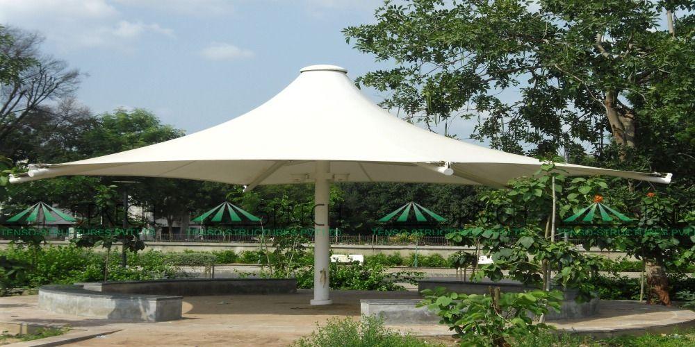 Center Polo - A umbrella style fabric canopy structures for garden sitout and sun shades & Center Polo - A umbrella style fabric canopy structures for garden ...
