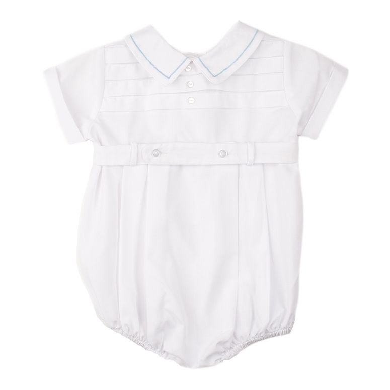 b54719a7ba74 Shop Now Feltman Brothers Friedknit Creations Boys Belted Creeper with  Horizontal Pleat