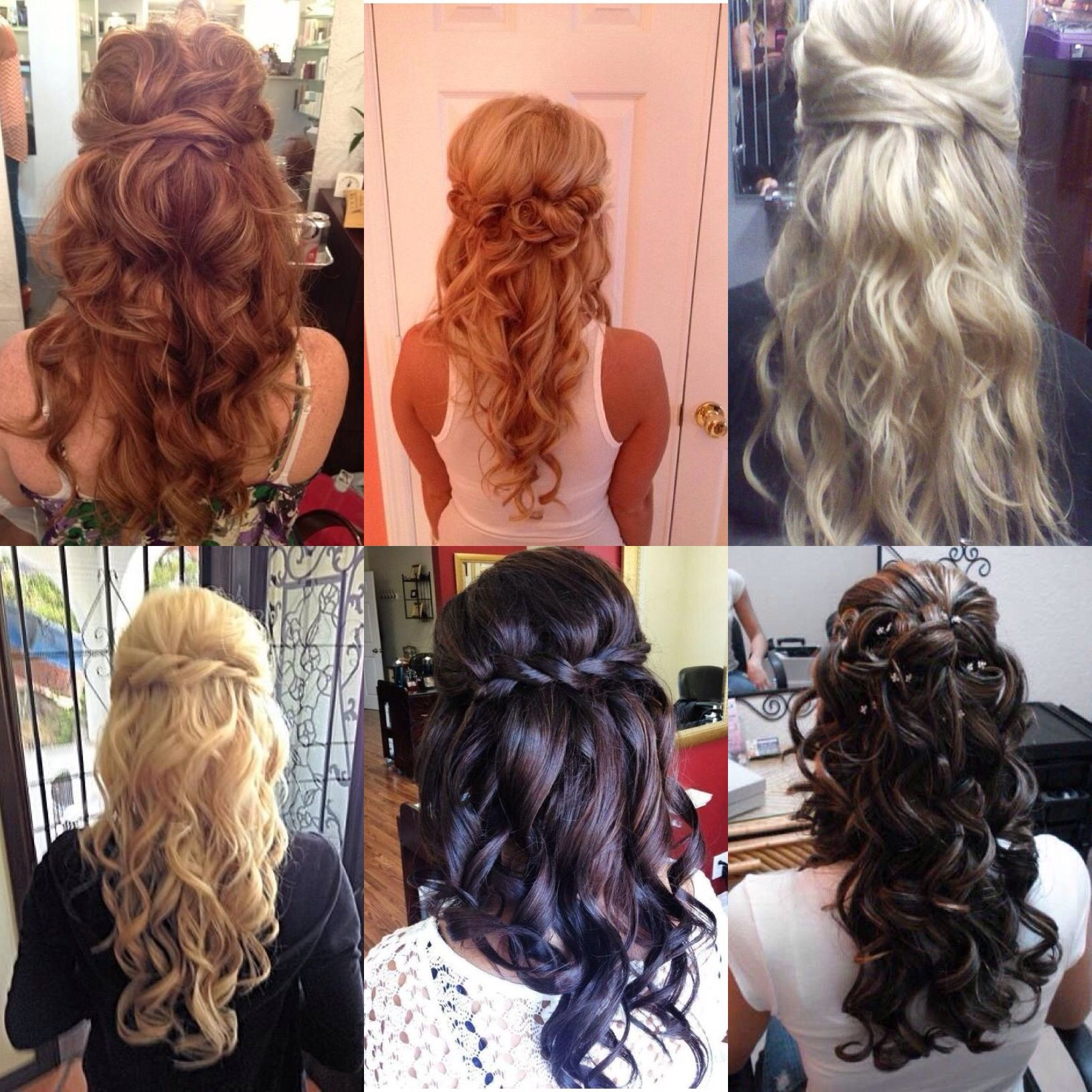 Half up half down prom hair | Hair and beauty | Pinterest ...