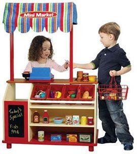Kids Market Stand Battatt Wooden Mini