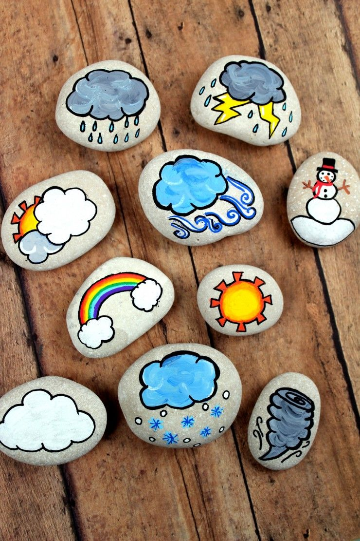 Photo of Weather Story Stones – Frugal Mom Eh!