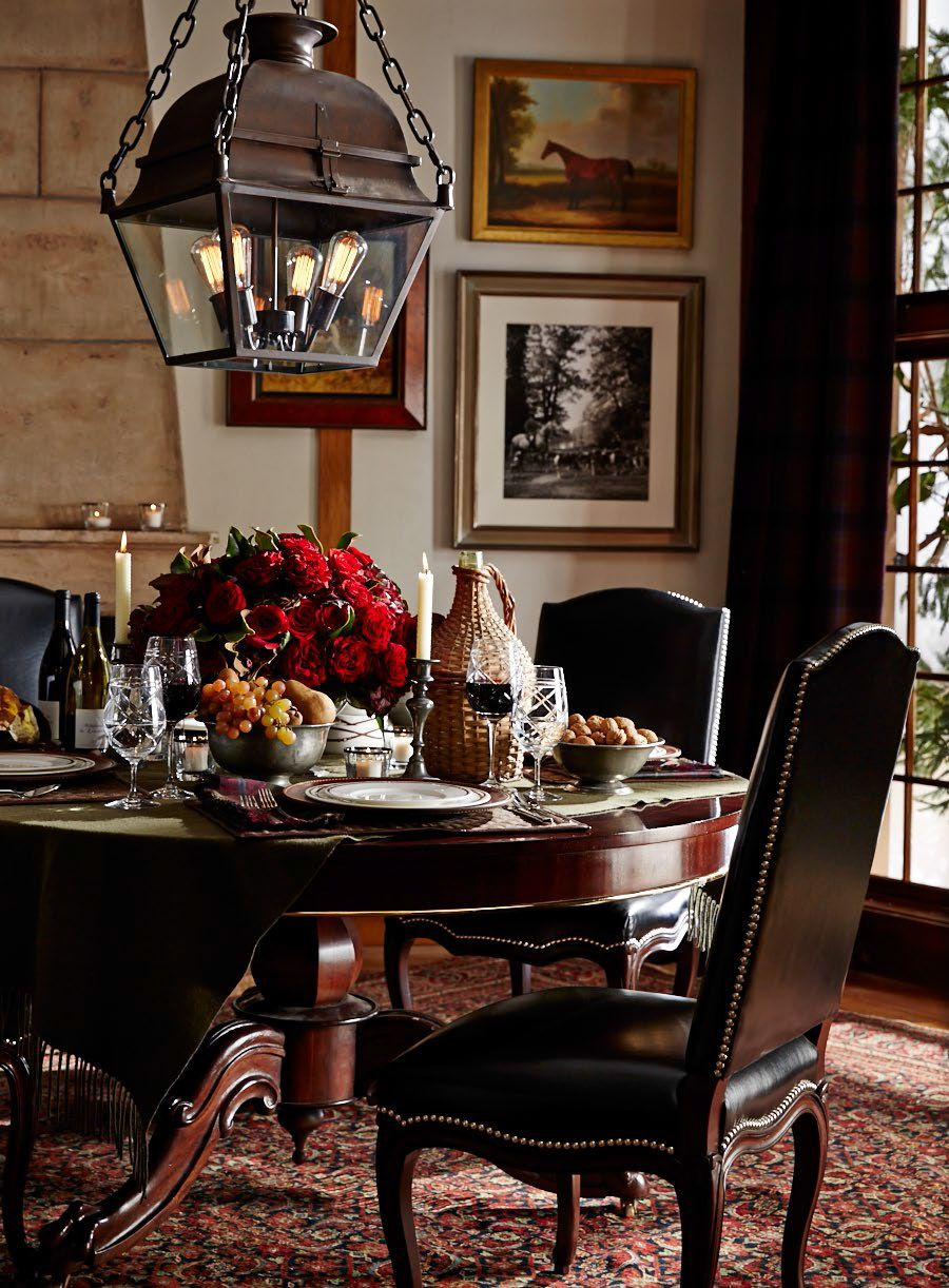 Setting the scene for fall entertaining with ralph lauren for Ralph lauren living room designs