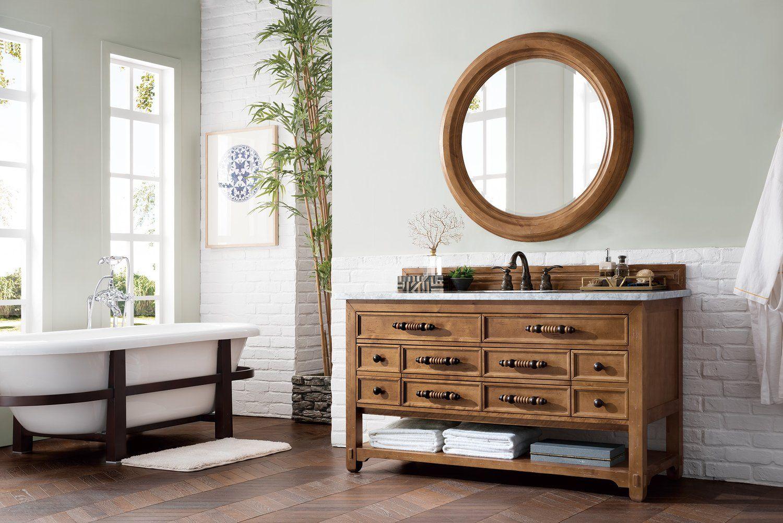 60 Malibu Honey Alder Single Sink Bathroom Vanity Home Decor