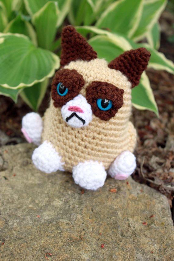 Grumpy Cat Crochet Plush