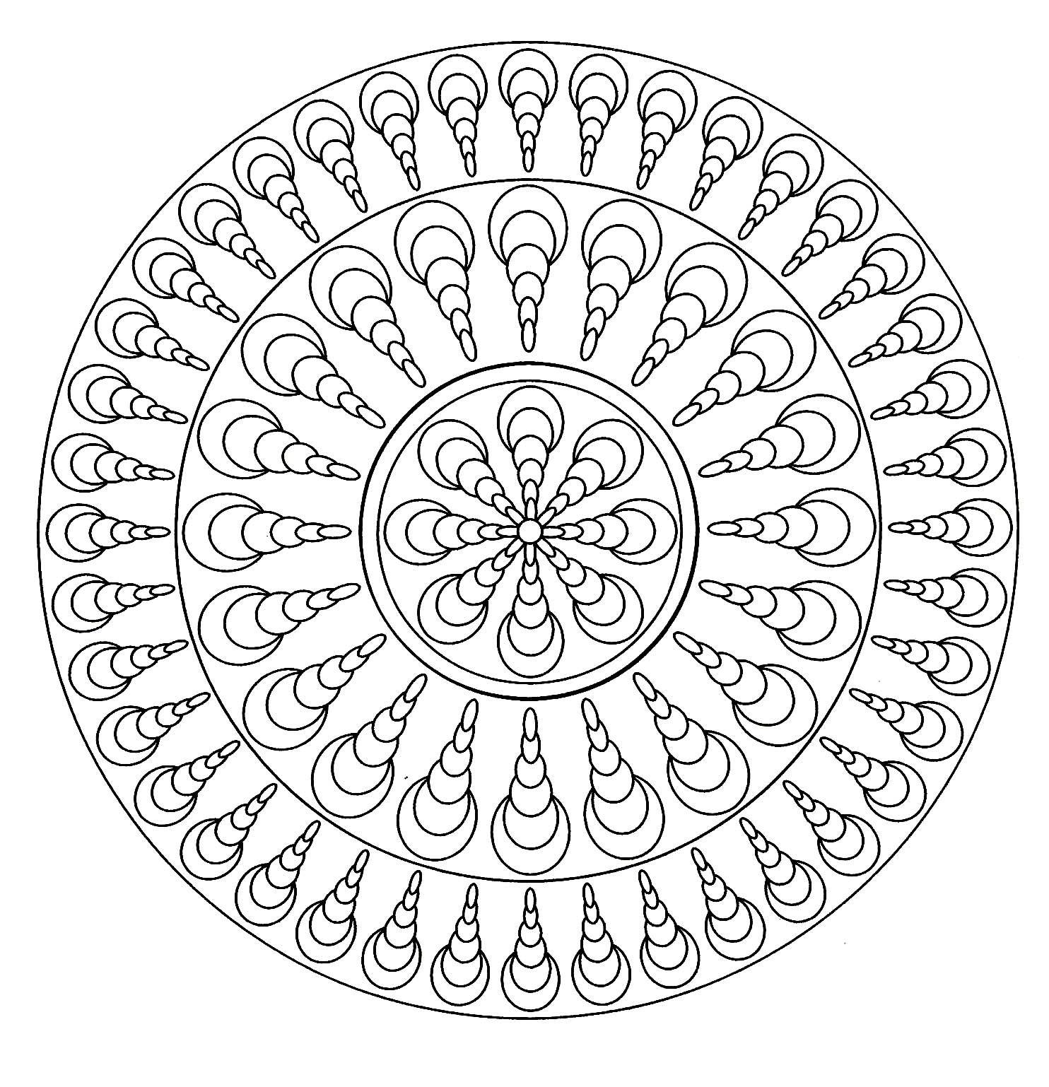 Mandala Facile 4 A Partir De La Galerie Normal Mandala Malvorlagen Einfaches Mandala Mandala Zum Ausdrucken