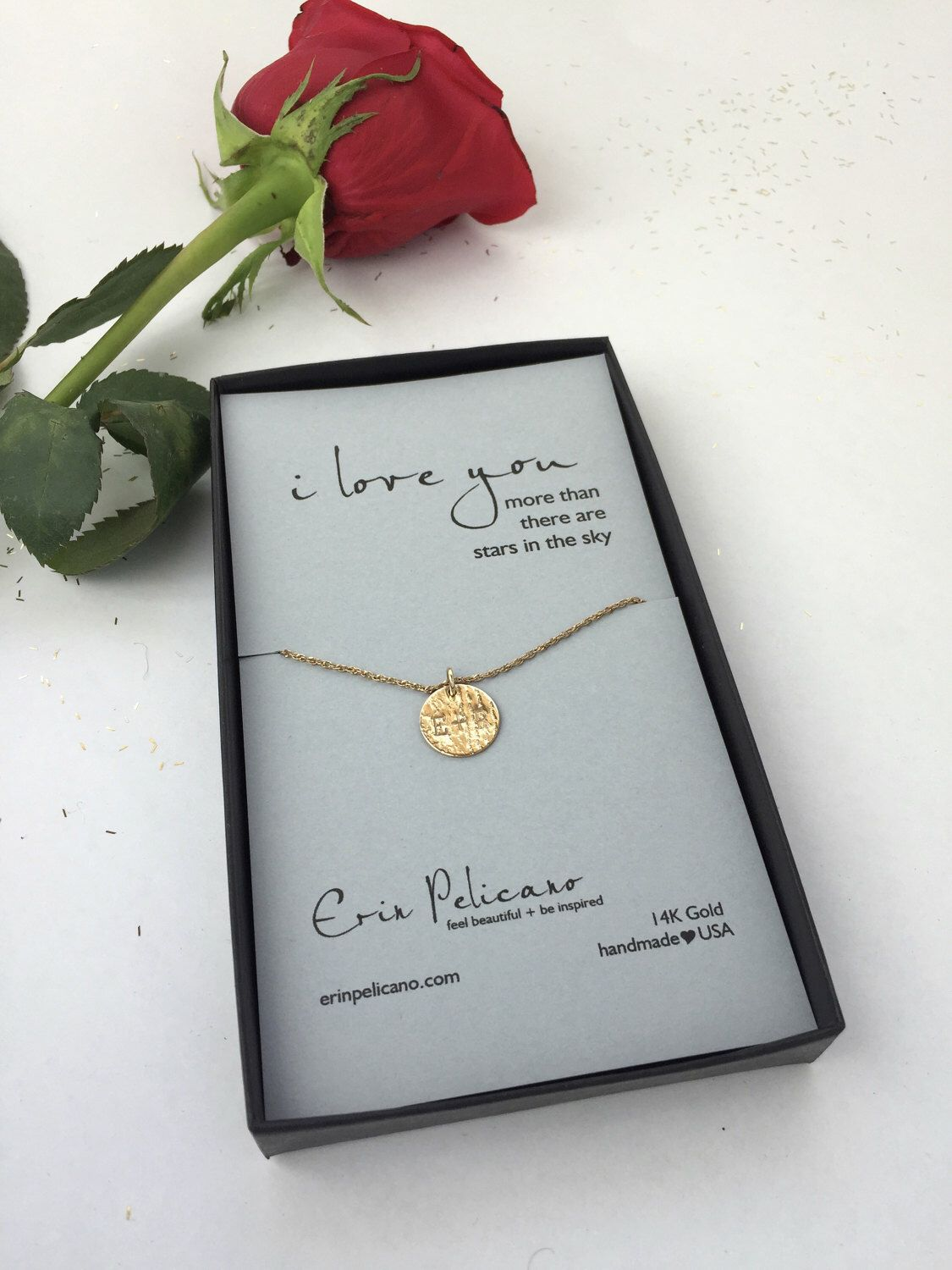 Valentines Gift Just For Her Ideas Wife Personalized Anniversary Jewelry Luxury Love Necklace Romantic Girlfriend