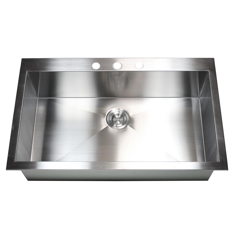 Kingsman Hardware Topmount Drop In 16 Gauge 36 In X 22 In X 10