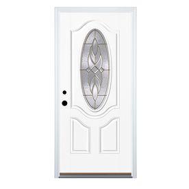Varissa 2 Panel Oval Lite Right Hand Inswing Fiberglass Primed