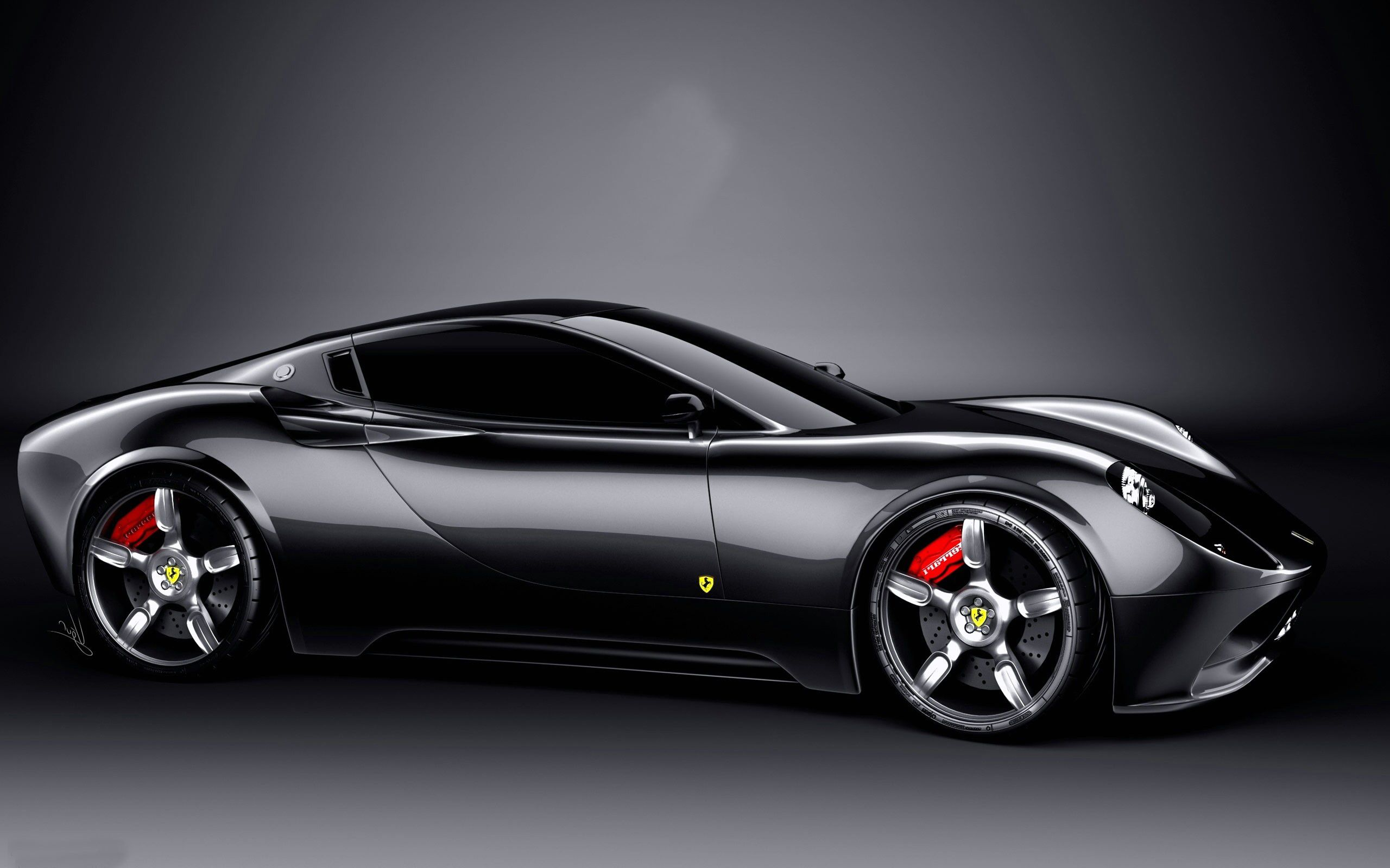 Amazing Ferrari Car Black Hd Wallpapers
